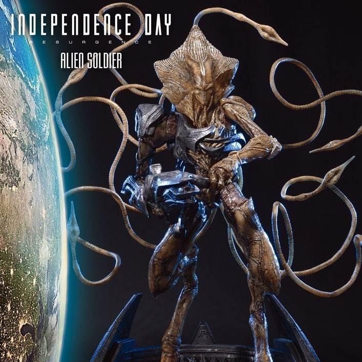 Alien Soldier - Independence Day Wiederkehr - Polystone Statue