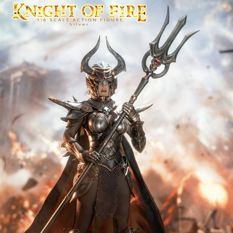 Knight of Fire Silver - 1/6 Scale Actionfigur