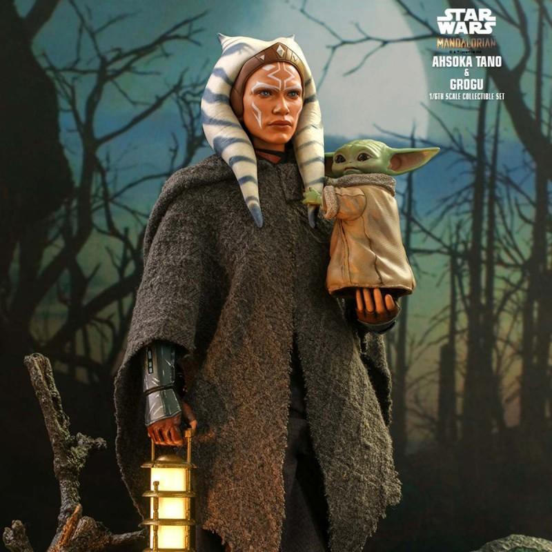 Ahsoka Tano & Grogu - Star Wars The Mandalorian - 1/6 Scale Figuren Set