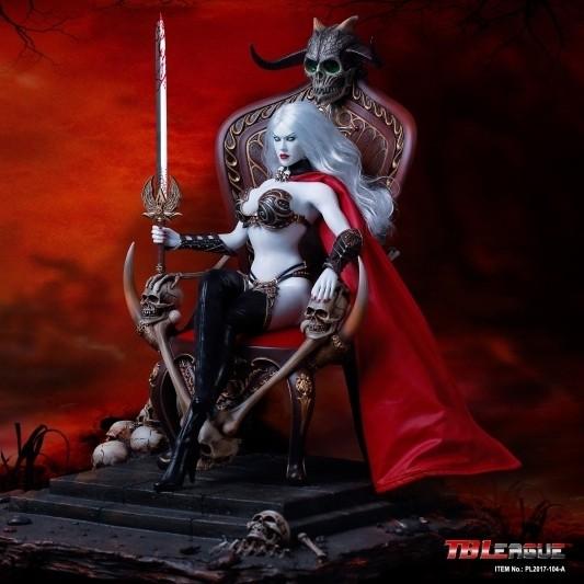 Lady Death: Death's Warrior mit Base und Thron - 1/6 Scale Actionfigur