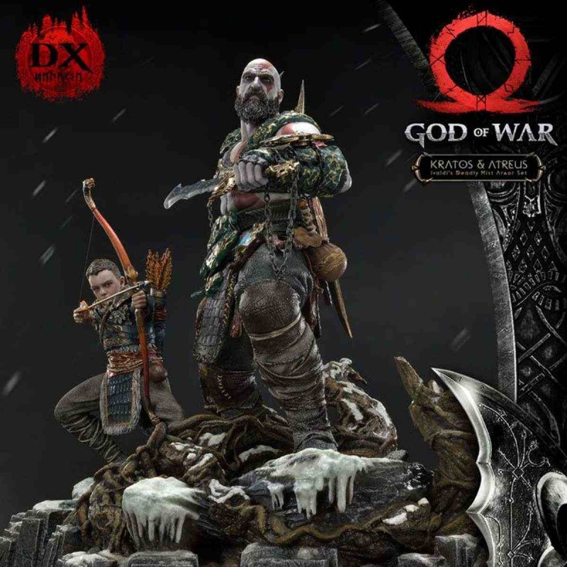 Kratos & Atreus Deluxe Version - God of War (2018) - 1/4 Scale Polystone Statue