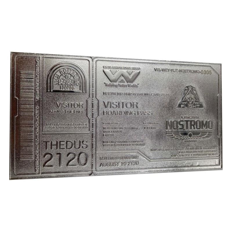 Nostromo Ticket Limited Edition (versilbert) - Alien - Replik
