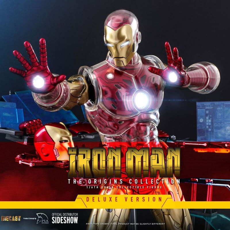 Iron Man (Deluxe) Origins Colletion - Marvel Comics - 1/6 Scale Action Figur