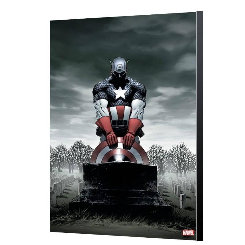 Captain America 4 - Steve Epting - Holzdruck 40 x 60 cm