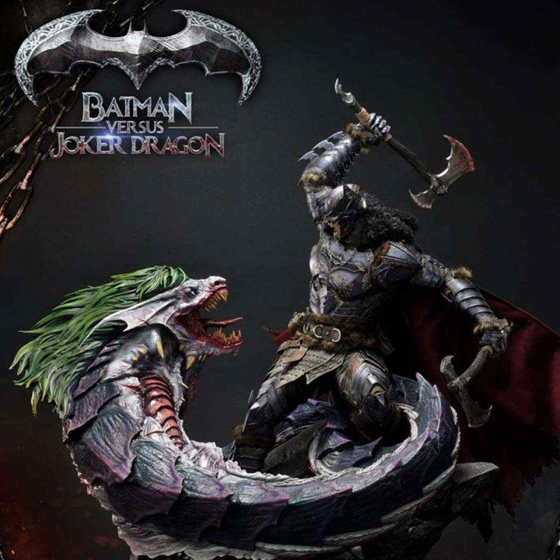 Batman Versus Joker Dragon - Dark Nights: Metal - 1/3 Scale Statue