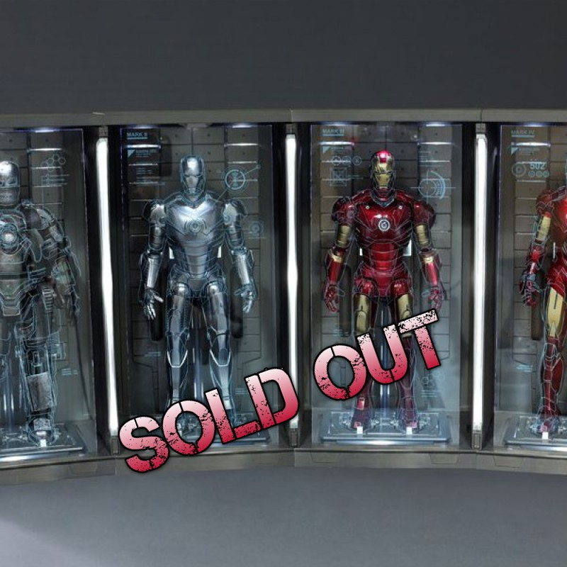 Hall of Armor Set of Four - Iron Man 2 - 1/6 Scale