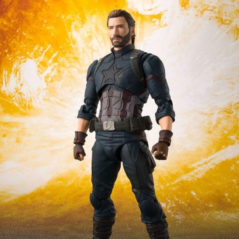 Captain America & Tamashii Effect Explosion - Avengers Infinity War - S.H. Figuarts Actionfigur