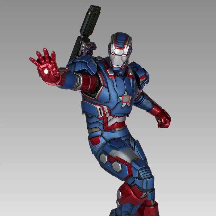 Iron Patriot - Iron Man 3 - 1/4 Scale Statue