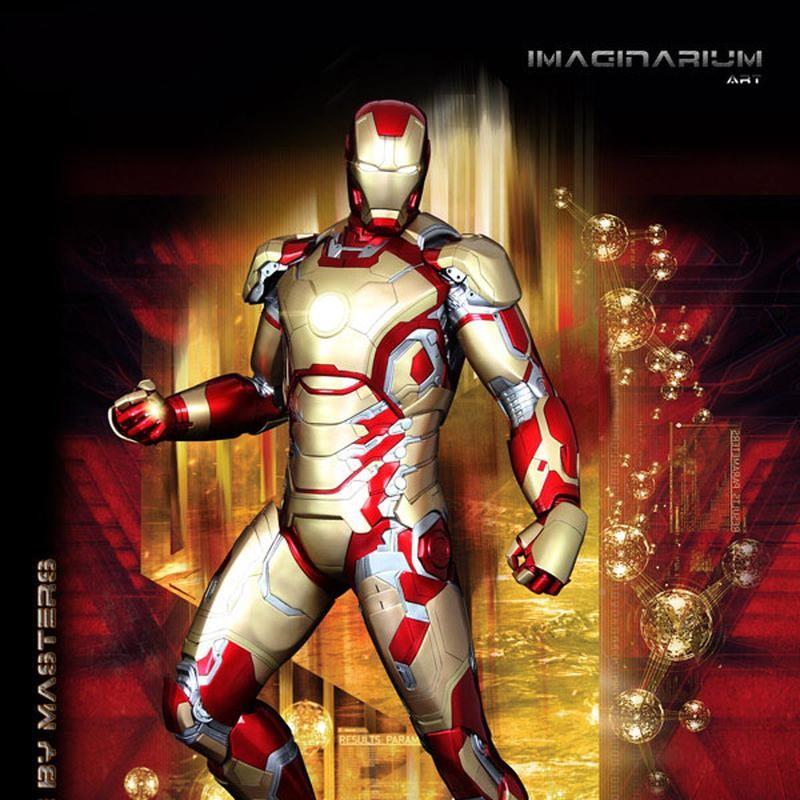 Iron Man Mark 42 - Iron Man 3 - 1/2 Scale Statue