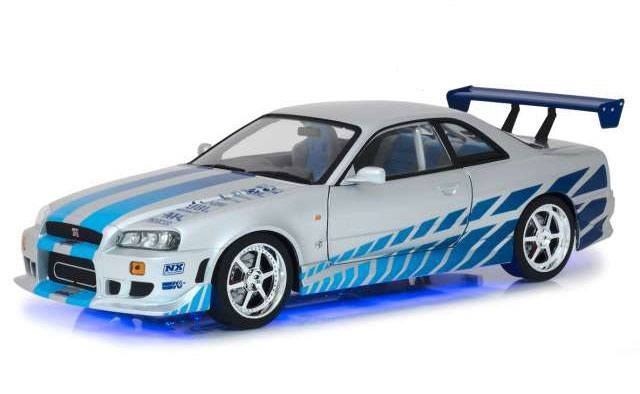 Brians Nissan Skyline GT-R34 - 2 Fast 2 Furious - Diecast Modell 1/18