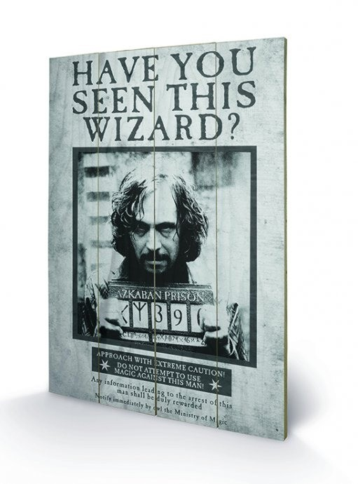 Sirius Wanted - Harry Potter - Holzdruck 40 x 60 cm