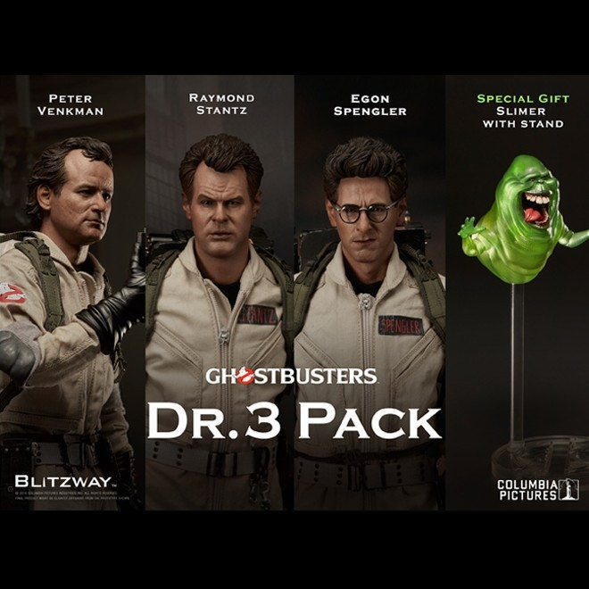 Dr. 3 Pack - Ghostbusters - 1/6 Scale Figuren Set
