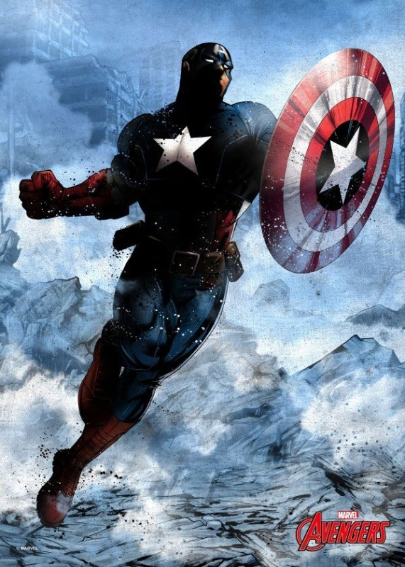Dark Captain America - Marvel Comics - Metall-Poster
