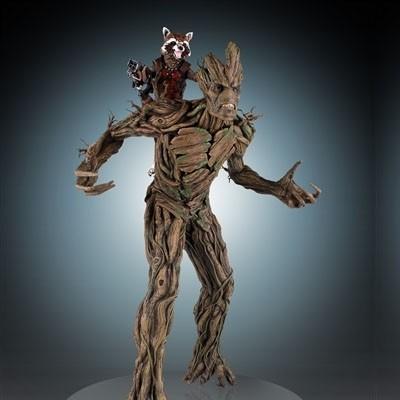 Rocket Raccoon & Groot - 1/4 Scale Statue