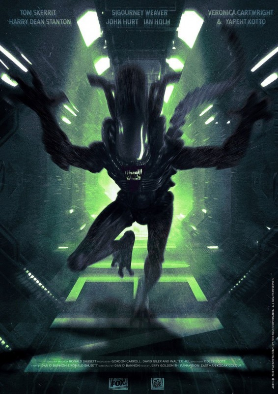 Attack - Alien - Kunstdruck 42 x 30 cm