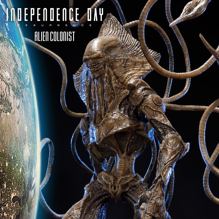 Alien Colonist - Independence Day Wiederkehr - Polystone Statue