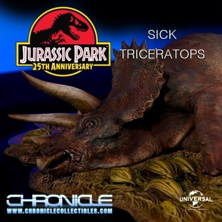 Sick Triceratops - Jurassic Park - 1/35 Scale Diorama