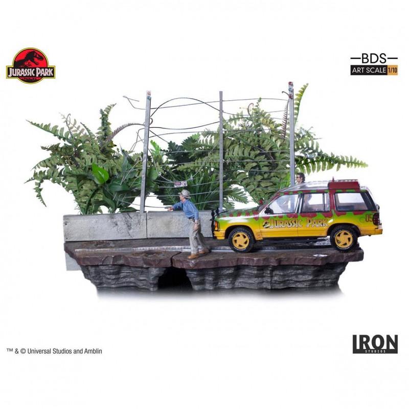 T-Rex Attack Set B - Jurassic Park - 1/10 Scale Diorama