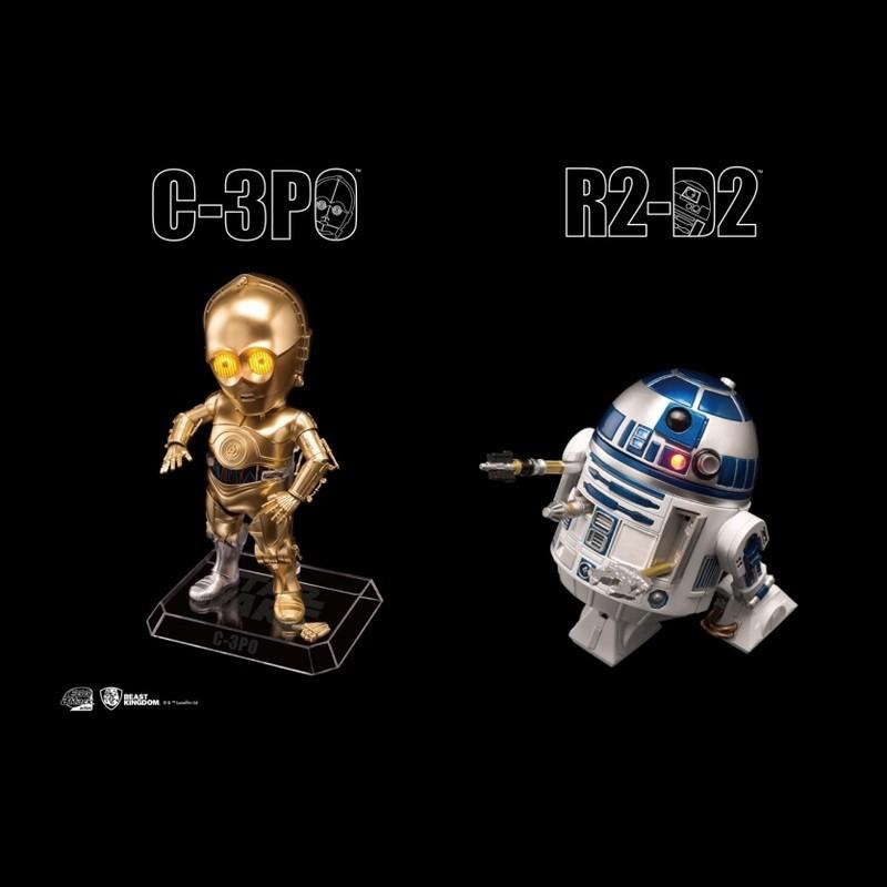 R2-D2 & C-3PO - Star Wars - Egg Attack Actionfiguren Set