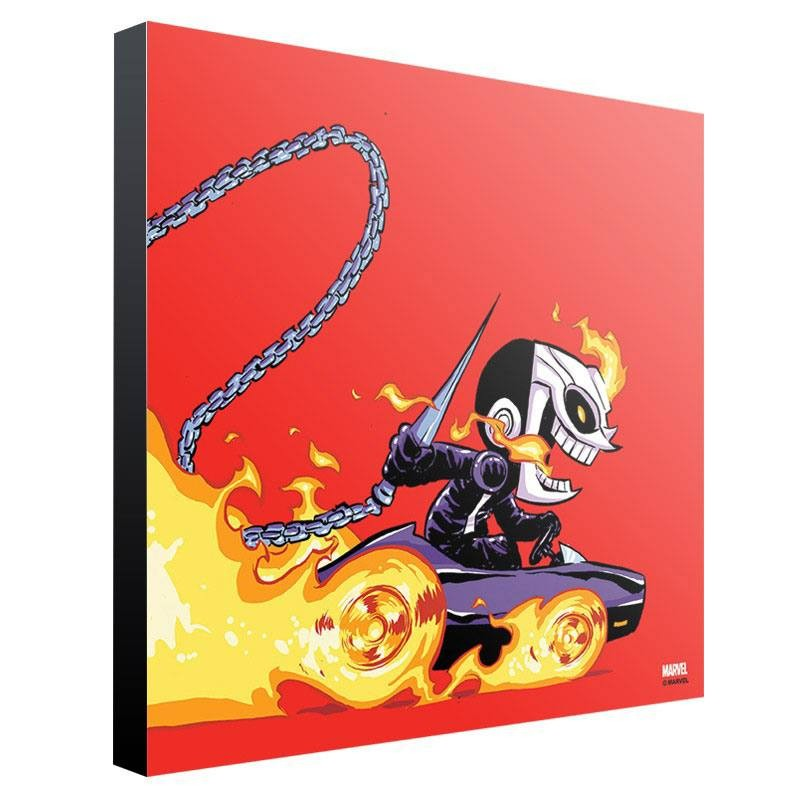 Ghost Rider by Skottie Young - Holzdruck 30 x 30 cm