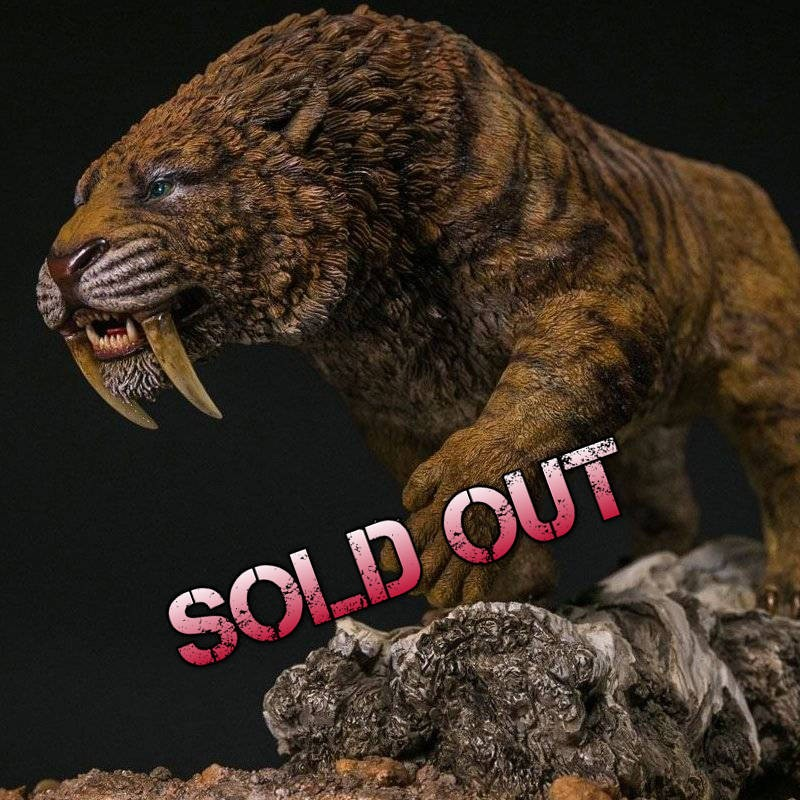 Similodon Fatalis Dry Gobi Desert Ver. - Paleontology World Museum Collection Series Statue