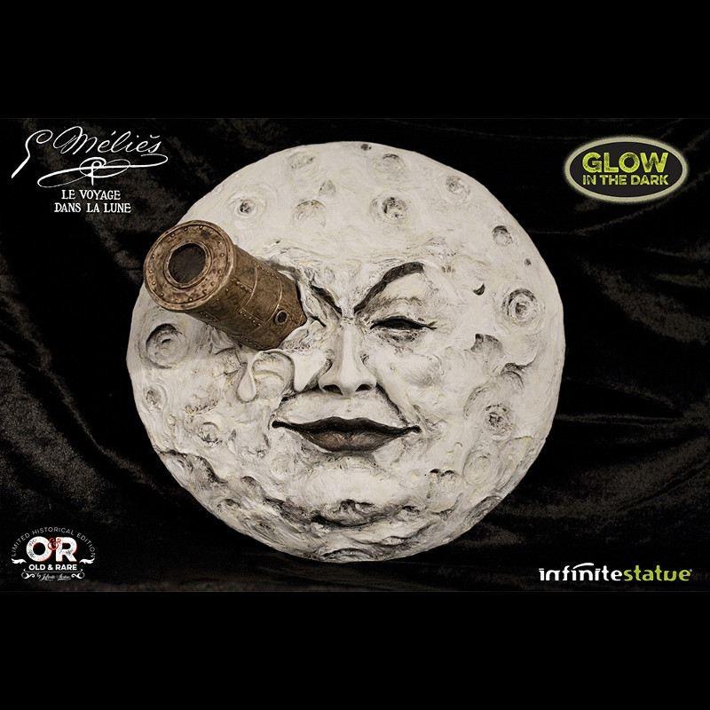 La Luna Melies Glow In Dark Wall Statue