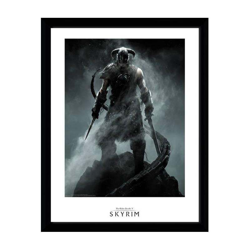 Dragon born - Skyrim - Poster im Rahmen