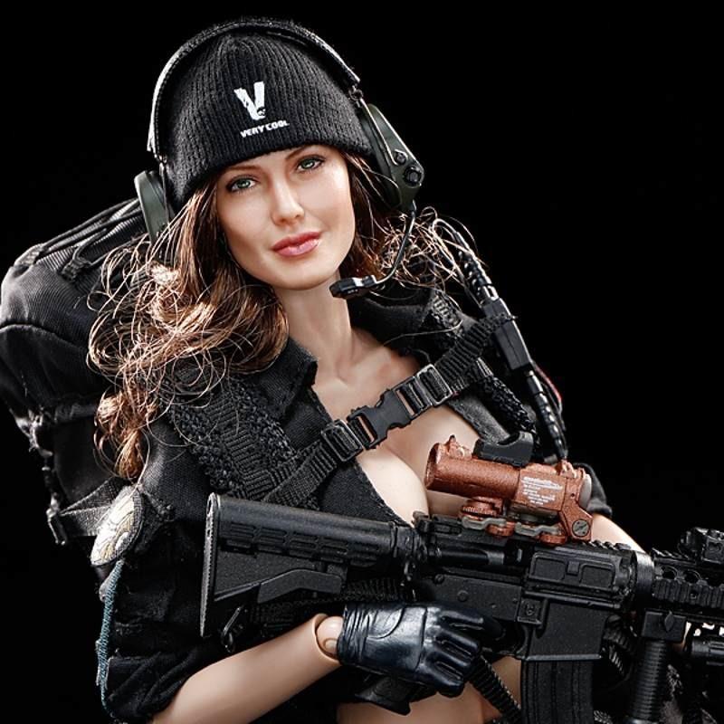 Female Shooter Black Version - 1/6 Scale Actionfigur