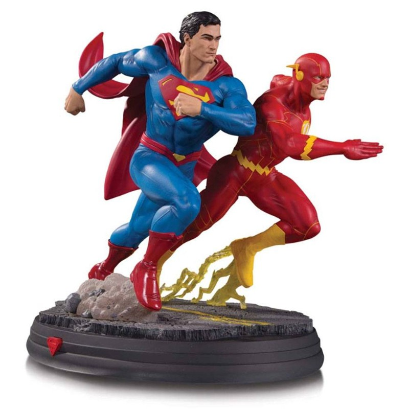Superman vs The Flash Racing - DC Comics - Gallery Statue