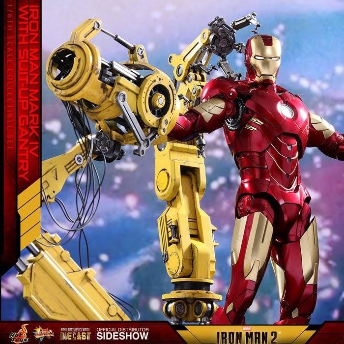 Iron Man Mark IV & Suit-up Gantry - Iron Man 2 - Diecast 1/6 Scale Figur