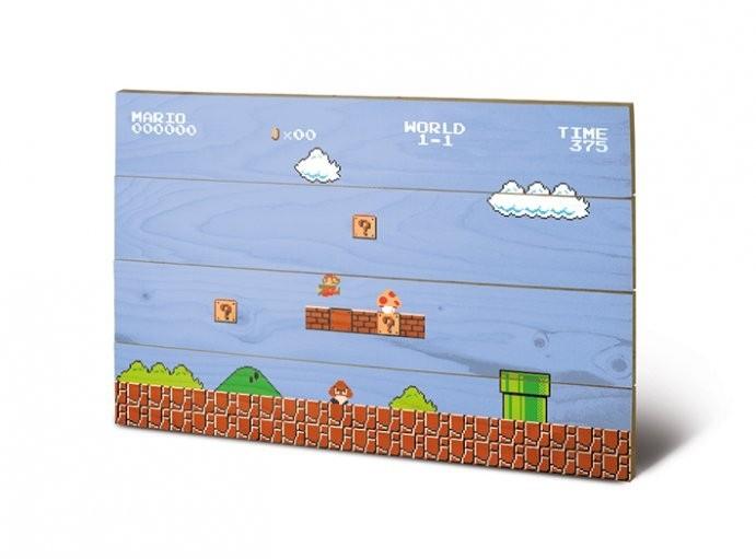 Super Mario Bros. - Holzdruck 40 x 60 cm