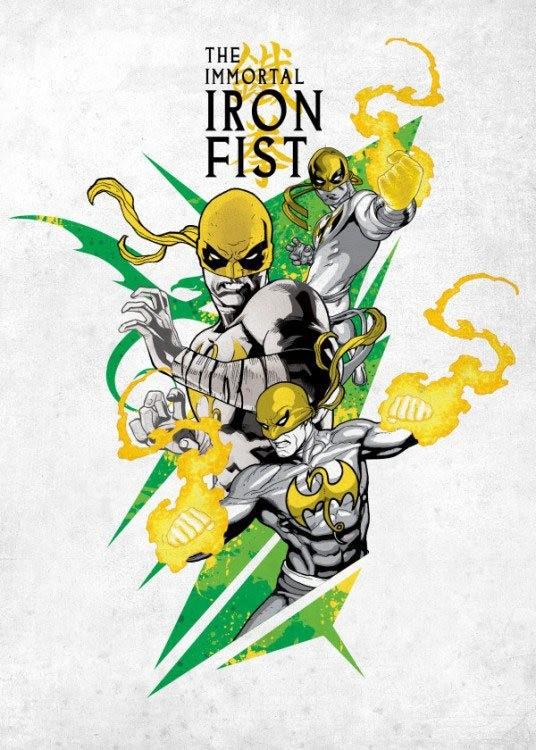 The Immortal Iron Fist - Marvel Comics - Metall-Poster