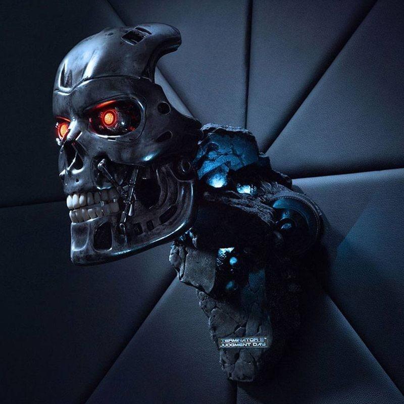 T-800 Endoskelett Maske - Terminator 2 - Life Size Replik