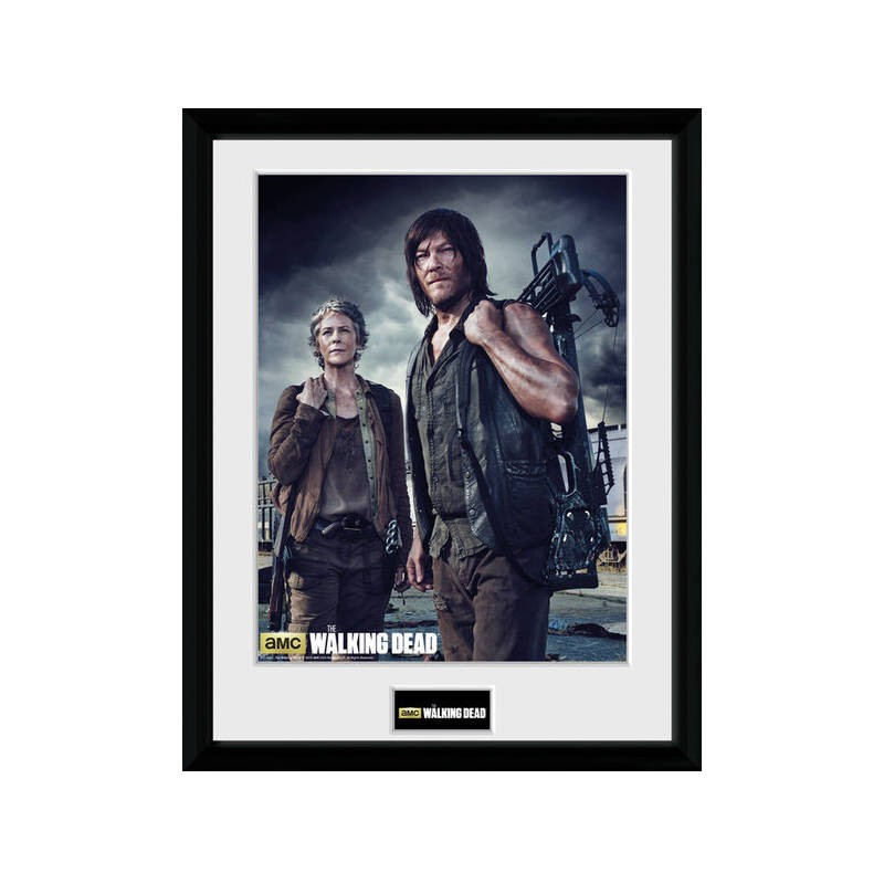 Carol and Daryl - The Walking Dead - Poster im Rahmen