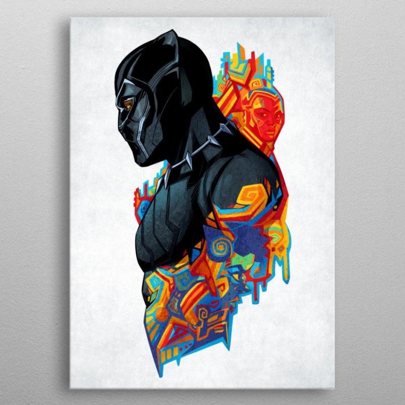 Black Panther King's Heritage - Marvel Comics - Metall-Poster
