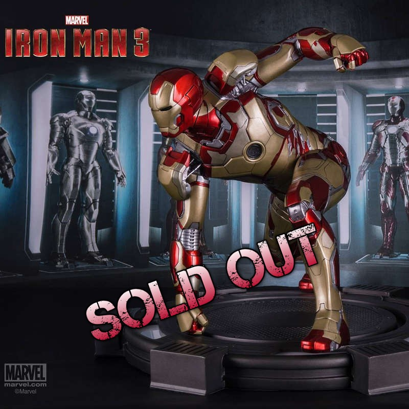 Iron Man Mark XLII - Iron Man 3 - 1/4 Scale Statue