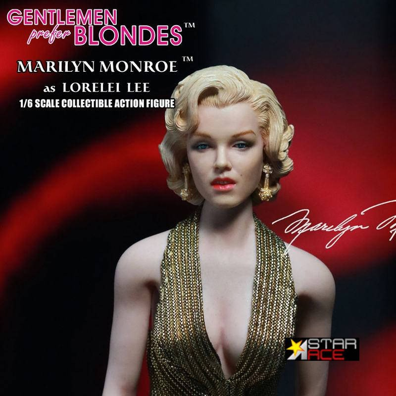 Marilyn Monroe Gold Dress - Blondinen bevorzugt - 1/6 Scale Actionfigur