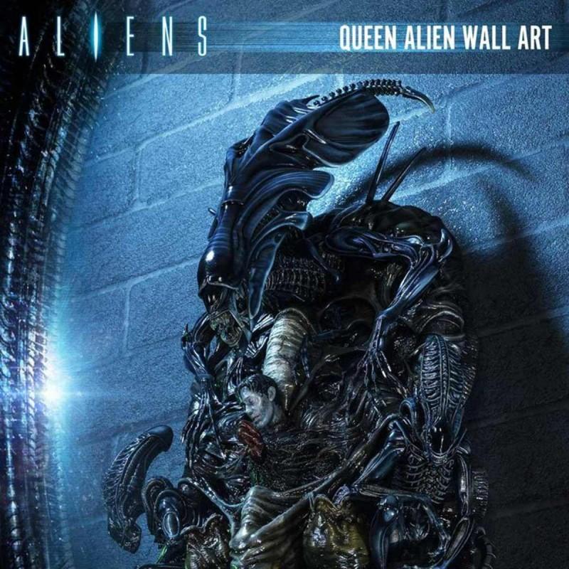 Queen Alien - Aliens - 3D Wand-Relief