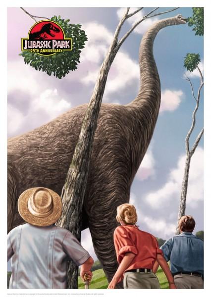 25th Anniversary - Jurassic Park - Kunstdruck 42 x 30 cm
