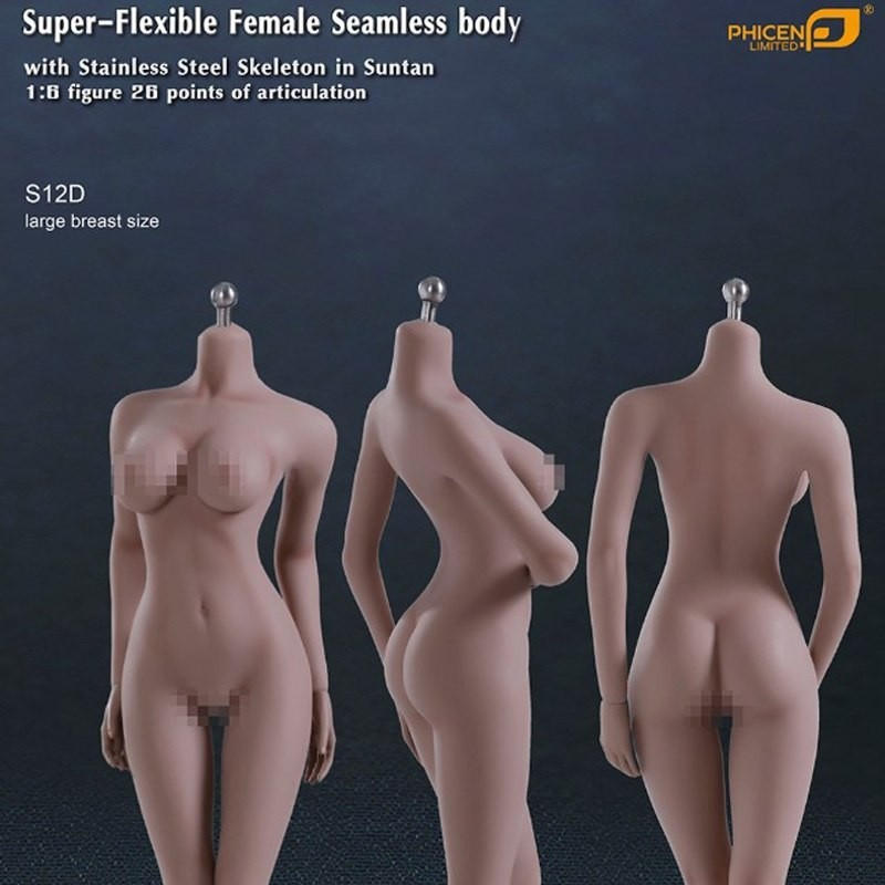 Super Flexible Female Seamless Body S12D - 1/6 Scale Body