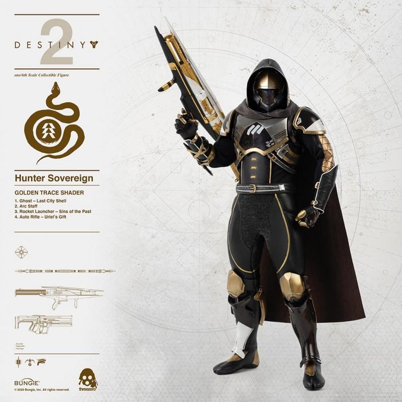 Hunter Sovereign Golden Trace Shader - Destiny 2 - 1/6 Scale Figur