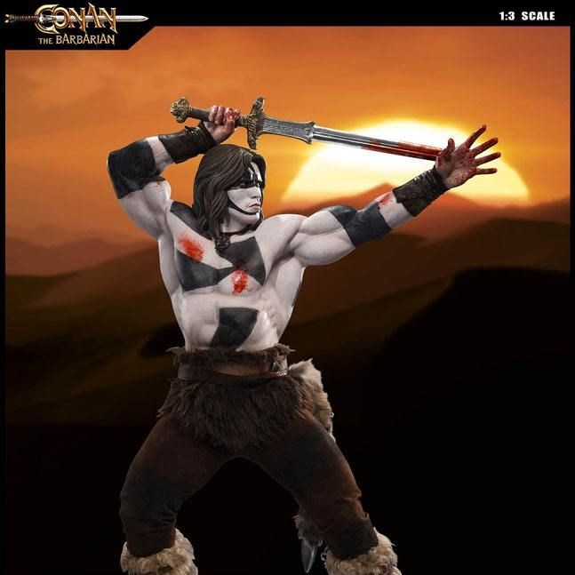 Conan Warpaint Version - Conan der Barbar - 1/3 Scale Statue