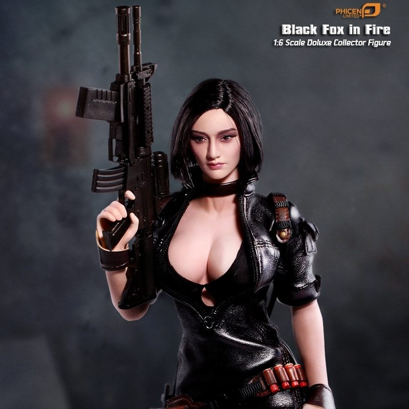 Black Fox In Fire - 1/6 Scale Actionfigur