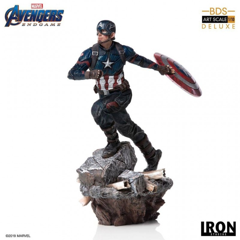 Captain America - Avengers: Endgame - Deluxe BDS Art 1/10 Scale Statue