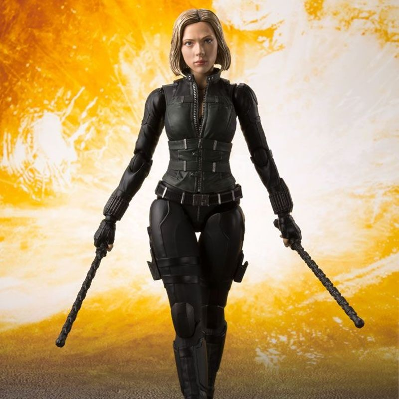 Black Widow & Tamashii Effect Explosion - Avengers Infinity War - S.H. Figuarts Actionfigur