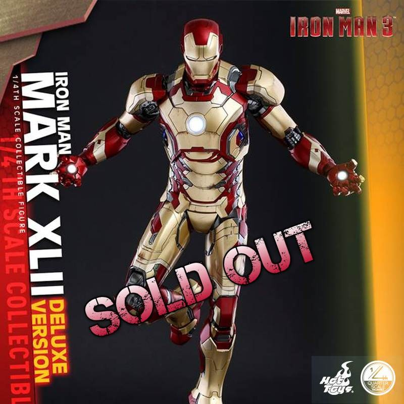 Iron Man Mark XLII - Iron Man 3 - 1/4 Scale Figur (Deluxe Version)
