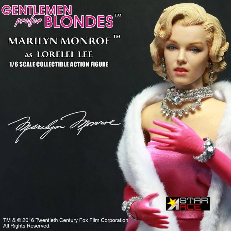 Marilyn Monroe Pink Dress - Blondinen bevorzugt - 1/6 Scale Actionfigur
