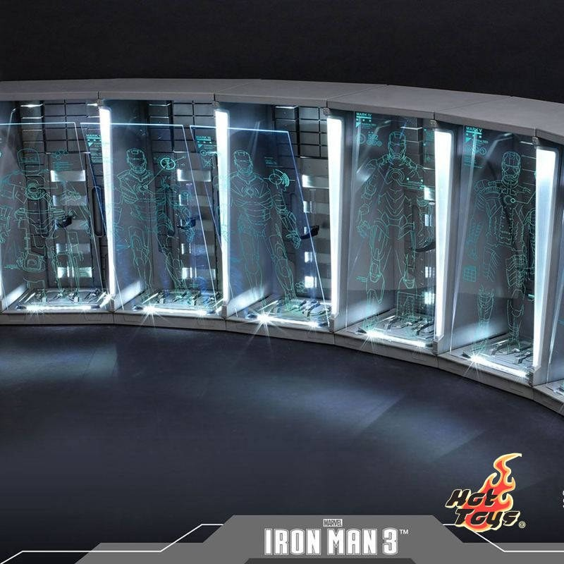 Hall of Armor (Set of 7) - Iron Man 3 - 1/6 Scale Zubehör