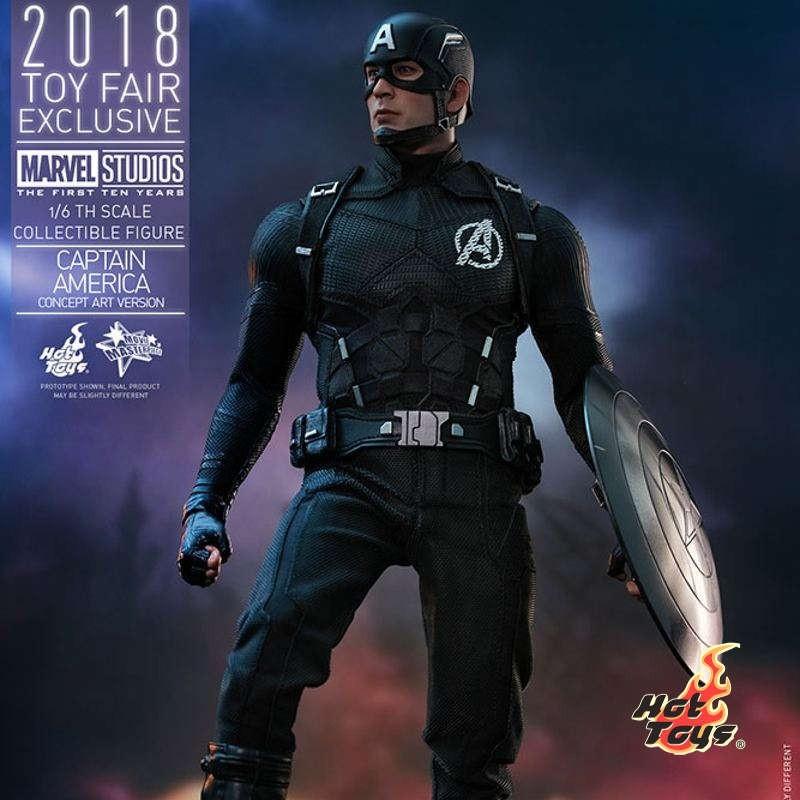 Captain America Concept Art 2018 Toy Fair Exclusive - 1/6 Scale Figur
