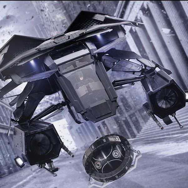 The Bat with Batman Deluxe - Batman - 1/12 Scale Action Figur